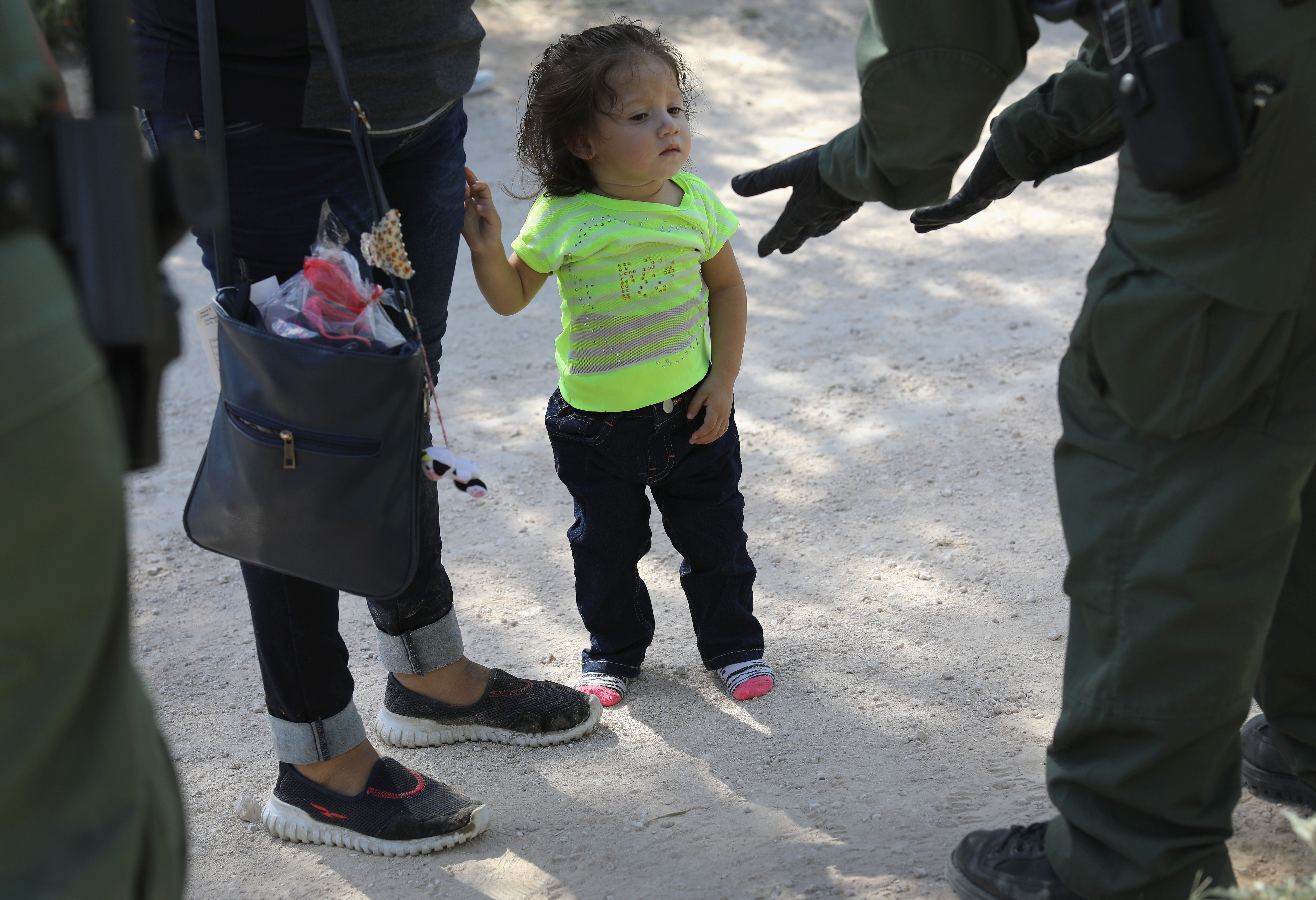 Photo of a child at the Texas border